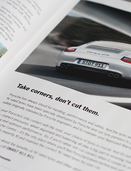 Porsche Press Adverts
