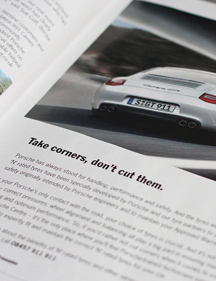 Porsche Press Adverts